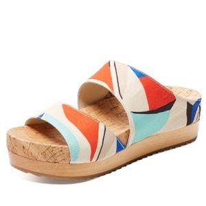 Brianna Colorblock Slip-On Sandal